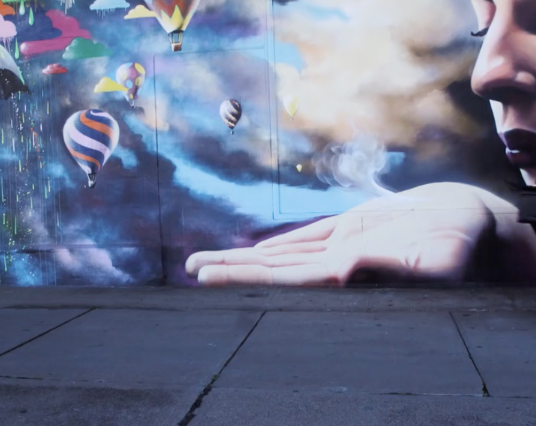 admire the street art